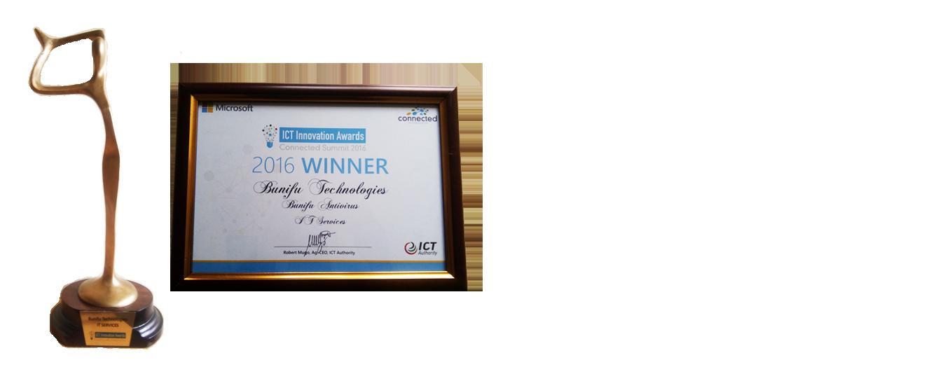 Microsoft Connected 2016 IT Services Winner - Bunifu Technologies